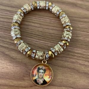 New Frida Kahlo Gold Bracelet